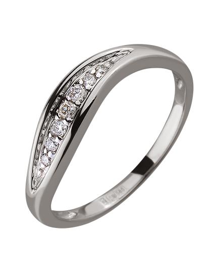 Золота каблучка з діамантами 01-17506399 фотографія